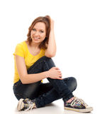 Teenage girl sitting Royalty Free Stock Photos
