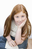 Teenage Girl Sitting Stock Photo