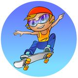 Teenage girl on a skateboard Stock Photo