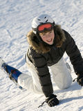 Teenage girl on ski Stock Photography