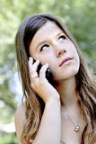 Teenage girl with smart phone Royalty Free Stock Images