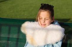 Teenage girl smiles in the sun Royalty Free Stock Photos