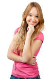 Teenage girl smiling Stock Photo