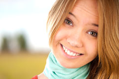 Teenage girl smiling Stock Images