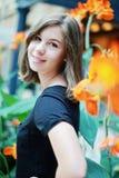 Teenage girl smiling Stock Images