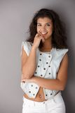 Teenage girl smiling happily Royalty Free Stock Photography