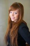 Teenage Girl Smiling Indoors Stock Image