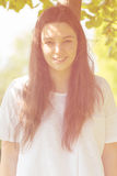 Teenage girl smiling Royalty Free Stock Photo