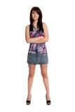 Teenage Girl Standing Stock Photography