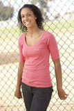 Teenage Girl Standing In Playground Royalty Free Stock Photography