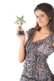 Teenage girl with star trophy Stock Photos