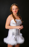 Teenage girl in strapless dress Royalty Free Stock Image