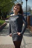 Teenage girl on the street Stock Photo