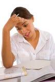 Teenage girl studying Stock Image