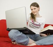 Teenage girl studying Royalty Free Stock Images