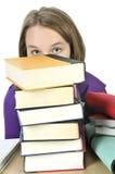 Teenage girl studying Stock Images