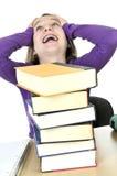 Teenage girl studying Stock Photos