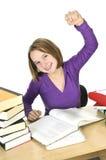 Teenage girl studying Stock Photography