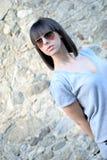 Teenage girl with sun glasses Royalty Free Stock Image
