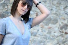 Teenage girl with sun glasses Stock Photo