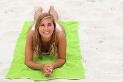 Teenage girl sunbathing Royalty Free Stock Photos