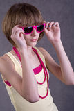 Teenage girl with sunglasses Royalty Free Stock Photos