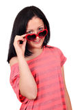 Teenage girl with sunglasses Stock Photo