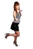Teenage girl with sunglasses posing Stock Photos
