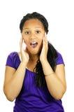 Teenage girl surprised Royalty Free Stock Image
