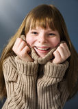 Teenage girl with sweater Stock Photography