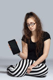 Teenage girl with tablet Royalty Free Stock Images