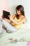 Teenage girl with tablet computer Royalty Free Stock Photography