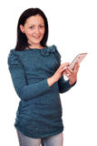 Teenage girl with tablet pc Royalty Free Stock Images