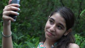 Teenage Girl Taking Selfie stock video footage