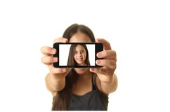 Teenage girl taking a selfie Stock Photos