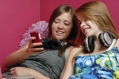 Teenage girl talking on cellphone Stock Image