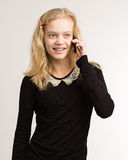 Teenage Girl Talking On Her Phone Stock Photography