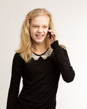 Teenage Girl Talking On Her Phone Royalty Free Stock Image