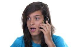 Teenage girl talking on the phone Royalty Free Stock Photos
