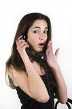 Teenage girl talking on the phone Stock Photography