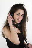Teenage girl talking on the phone Stock Photos