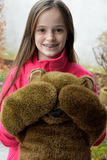 Teenage girl with teddy bear Royalty Free Stock Photos