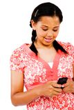 Teenage Girl Text Messaging Royalty Free Stock Photo