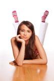 Teenage girl thinking Royalty Free Stock Images