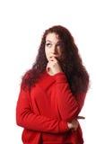 Teenage girl thinking Royalty Free Stock Photo