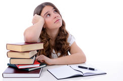 Teenager waiting for inspiration Stock Image