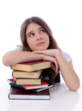 Pretty teenager with books Stock Photography