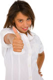 Teenage girl with thumb up Royalty Free Stock Image