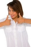 Teenage girl with thumbs up Royalty Free Stock Photography