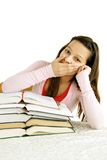 Teenage girl tired of learning Stock Photo